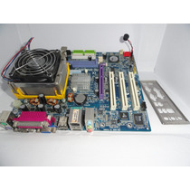 Placa Mãe Gigabyte Ga-8vm800m/processador/cooler Completo