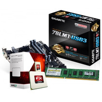 Kit Amd Am3+ Gigabyte Ga-78lmt-usb Fx 6300 3.5ghz + 4gb Ddr3