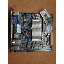Kit Placa Mãe Mini Itx Ecs Cdc-i V1.0 + D2500 Ii + Hd 320gb