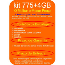Kit Core2duo - Placa 41bo + E7500 + 4gb Ddr3 +cooler + Esp