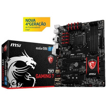 Placa Mãe Msi Z97 Gaming 7 Serie 9 Raid 3300mhz Lga1150 Box