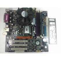 Kit Placa Mãe Ecs P4m800pro-m + Pentium 4 2.8 + 1gb Drr1