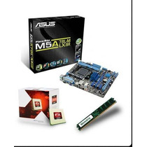 Kit Amd Bulldozer Fx-6300 / Asus M5a78l-m / 4gb Nota Fiscal