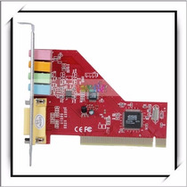 Placa De Som 5.1 Pci 32bit 3d Stereo Saida Game / Midi 4ch