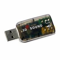 Placa De Som 5.1 Usb Ps3 Adaptador Audio