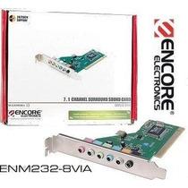 Placa De Som Encore Pci 7.1 Enm232-8cmi