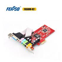 Placa De Som 5.1 Pci Express X1 Pci-e (mini Pci) Fpsom-02