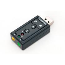 Adaptador Placa De Som Usb 7.1 Microfone Fone - Frete Grátis