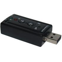 Placa De Som Usb 7.1 Canais 3d Adaptador Audio
