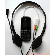 Cabo Adaptador P3 (p2 Combo) P/ Fone E Microfone Headset