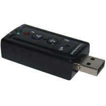 Placa De Som Usb 7.1 Canais 3d Adaptador Audio P2 Pc Note