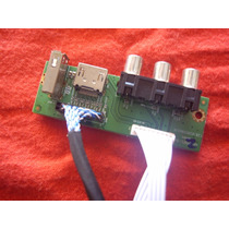 Placa Usb/hdmi/av Lateral + Cabo Tv Philco Ph42m Lcd