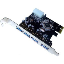 Placa Pci-e 4 Portas Usb 3.0 5gb/s Win Xp 7 32x64