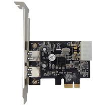 Placa Usb 3.0 Pci-e Express X1 Com 2 Portas 5gb/s Excelente