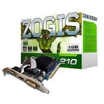 Placa De Vídeo Vga Zogis Geforce Gt210 1gb Ddr3 64bits Pci-e