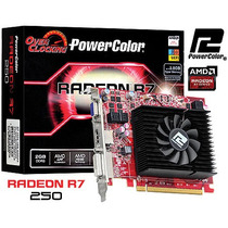 Placa Radeon R7 250 Sl Dvi-d Hdmi Vga 128 Bits Power Color