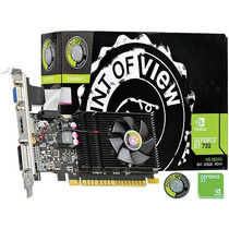 Placa De Vídeo Geforce Gt 730 1gb Ddr3 64 Bits Point Of View