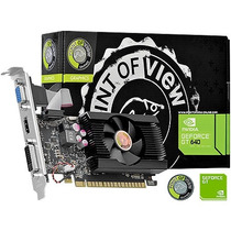 Placa De Vídeo Geforce Gt640 1gb Ddr3 128 Bits Point Of View