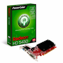 Placa De Vídeo Vga Powercolor Ati Radeon Hd5450 1gb Ddr3 64