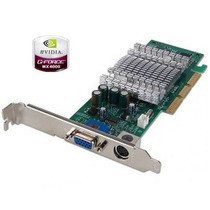 Placa De Video Agp Nvidia Geforce Mx4000 64mb Ddr Tv Out