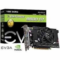 Placa De Vídeo Evga Geforce 9800gt 1gb Ddr3 256 Bits Pci 2.0