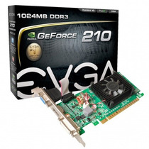 Placa De Vídeo Geforce Gt 210 1gb 64bits Evga Gddr3 + Nf-e