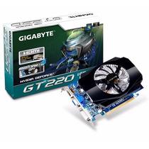 Placa De Vídeo Gigabyte Geforce Gt220 1gb Ddr3 128 Bits