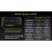Nvidia Quadro K4000 Pny 3gb Ddr5 192bits 100%