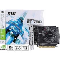 Placa De Video Nvidia Geforce Gt 730 2gb Ddr3 128 Bits - N7
