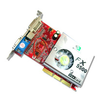 Placa De Video Agp Nvidia Fx5500 256 Mb 128bits + Nf