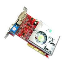 Placa De Video Agp Nvidia Fx5500 256 Mb 128bits Hdmi +nf