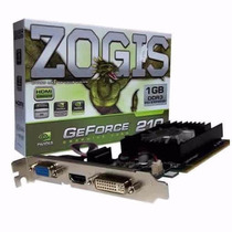 Placa De Vídeo Zogis Geforce Gt210 1gb Ddr3 Zo210-1gd3h