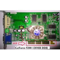 Placa De Video Nvidia Ge Force Fx 5200 128mb Frete Grátis