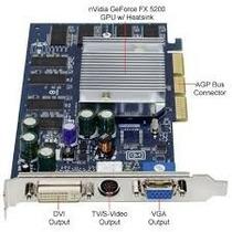 Placa De Video Gf Fx5200 - 128mb - Frete Grátis!