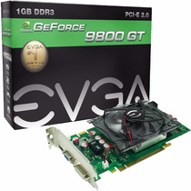 Placa De Vídeo Vga Evga Geforce 9800gt 1gb Ddr3 256 Bits Nfe