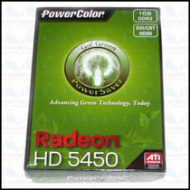 Caixa, Manual E Cd Da Vga Powercolor Ati Radeon Hd5450 1gb