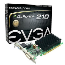 Placa Vídeo Evga Gt210 Geforce 1gb Ddr3 Pci Express Nova