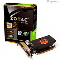 Placa De Vídeo 1gb Zotac Geforce Gtx750 128 Bits Sem Juros
