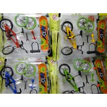 Kit 08 Dedo Bike Skate Miniatura Acessorios 4 Bike + 4 Skate