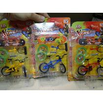 03 Mini Bicicletas E Skate De Dedo Tudo Junto Com Acess.
