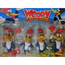 04 Bonecos Do Pica Pau Woddy Woodpeccker Com 10 Cm Altura