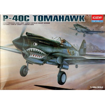 Avião P-40 Tiger Shark Academy 1/48 Tipo Kit Revell E Tamiya