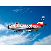 Kit Para Montar Italeri F-86f Sabre Jet Skyblazers 1/[48
