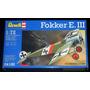 Caça Primeira Guerra Fokker E Ill Eindecker Kit Revell 1/72