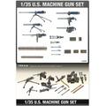 Metralhadoras U.s. Machine Gun Set Academy Kit 1/35
