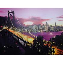 Pontes De Nova Yorque Manhattan Brooklin New York Quadro