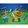 Casa Casinha Boneca Parquinho 12 Bonecos E 10 Brinquedo Lego