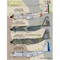 Decais Fcm Para C-130 Hercules 2 Versões Da Fab Escala 1/144