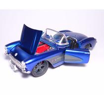 Carro Chevrolet Corvette 1957 Azul Plastimodelismo Maisto