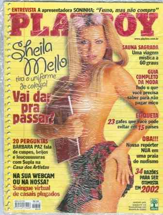 Playboy 318- Janeiro De 2002- Sheila Mello Nua- Barbara Paz